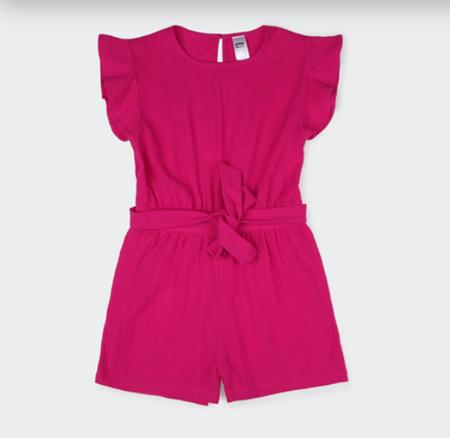 Pink Crinkle Playsuit