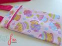 Pink cupcake messenger bag