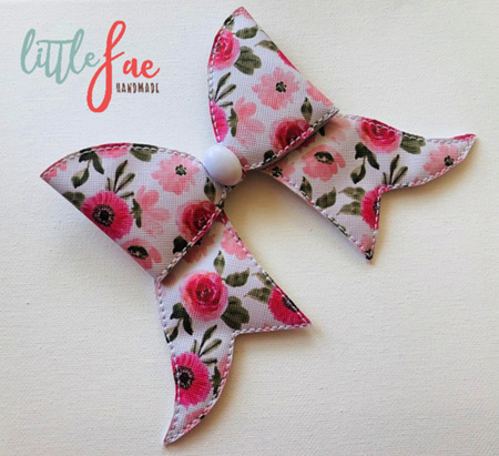 Pink Daisy Cheer Bow Hairclip