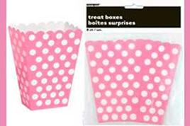 Pink Dot Treat Boxes x 8