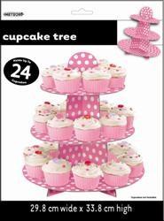 Pink Dots Cupcake Tree