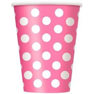 Pink Dots Party Cups x 6