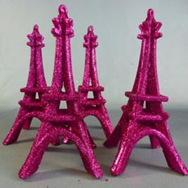 Pink Eiffel Tower decoration