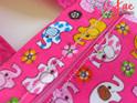 Pink elephant messenger bag