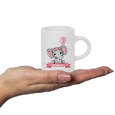 Pink Elephant Personalised Fluffy Mug