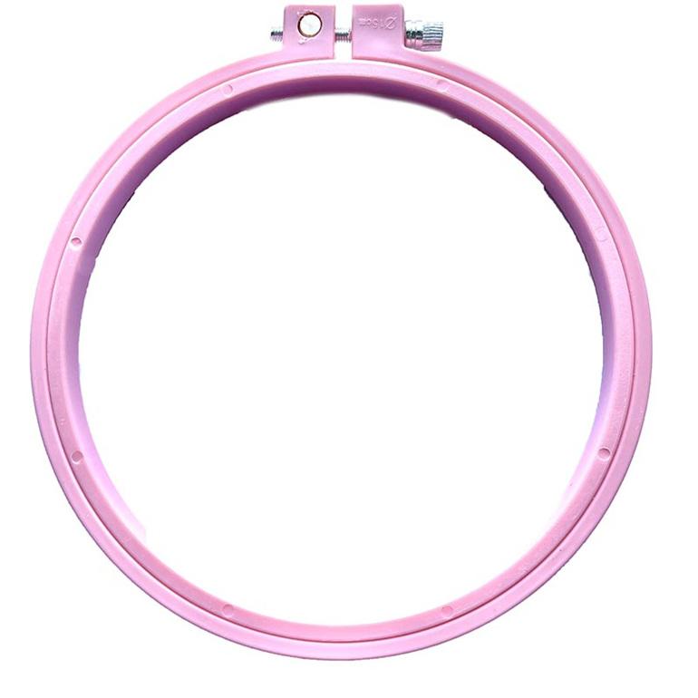 pink embroidery hoop 15 cm
