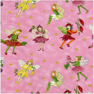 Pink fairy bib