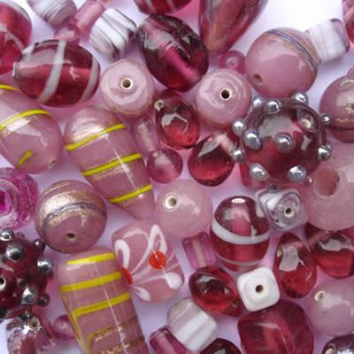 Pink Fancy Bead Mix