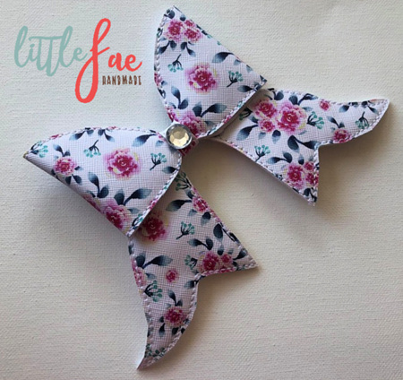 Pink Flower Cheer Bow Hair Clip