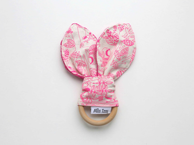 Pink Forest Bunny Teether B