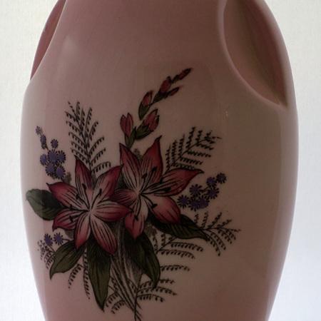 Pink glazed vase