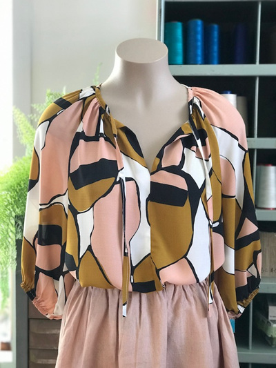 Pink & gold Rei Blouse