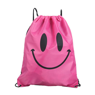 Pink Happy Face Swim Bag