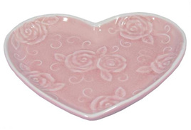 Pink Heart Shaped Rose Dish