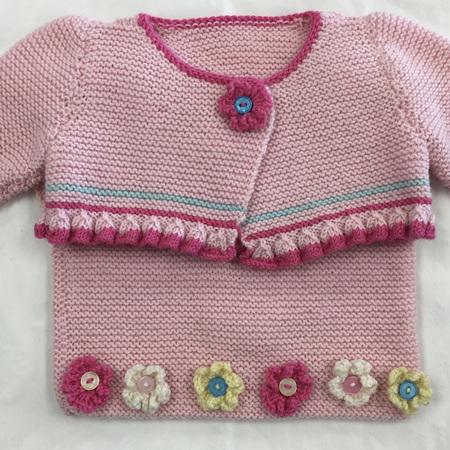 Pink Merino Wool Bolero & Vest Set - 0-4 months
