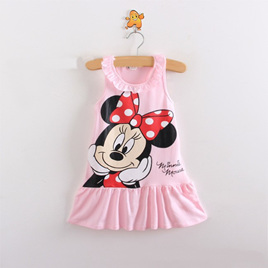 Pink  Minnie Mouse Kids Dress Size 3