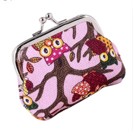 Pink Owl Coin Purse