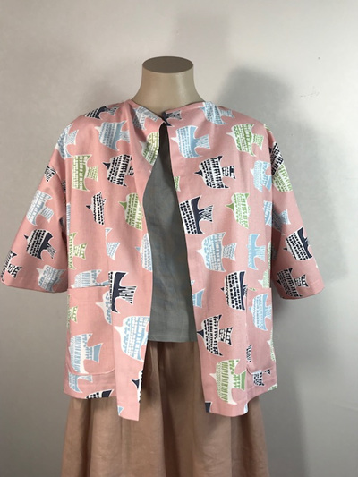 Pink painters jacket