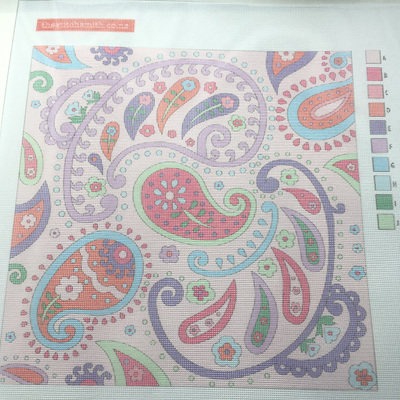 Pink Paisley canvas only