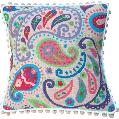 Pink Paisley needlepoint kit