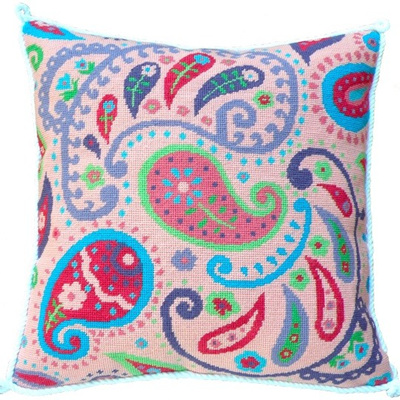 Pink Paisley Needlepoint Kit CLEARANCE
