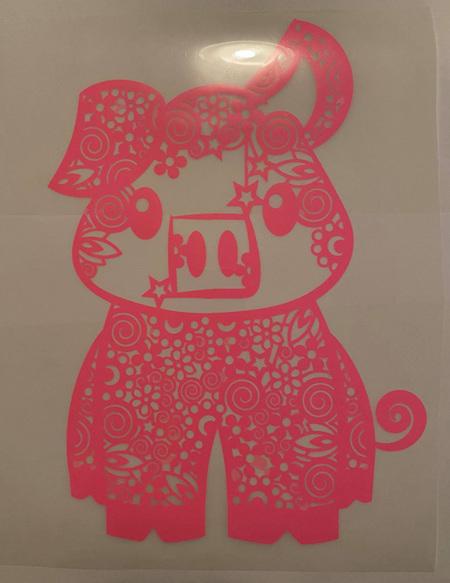 Pink Pig Heat Press Vinyl