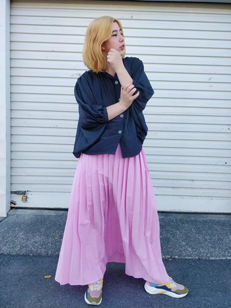 Pink Pleat Skirt