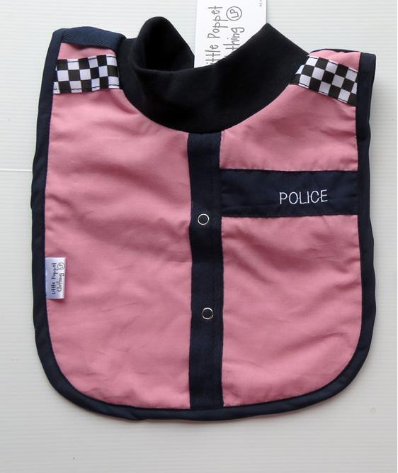 Pink Police Bib