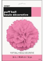 Pink Puff Decoration - 40cm
