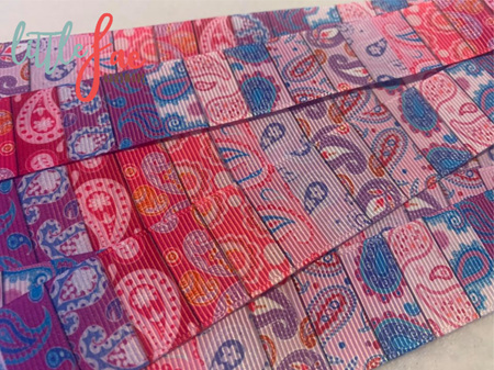 Pink & Purple Paisley Hairbows