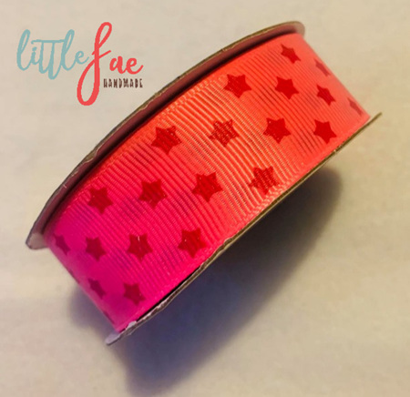 Pink & Red Star Hair Bows