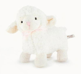 Pink Ribbon Lamb 14cm