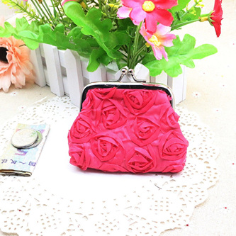 PINK ROSE COIN PURSE
