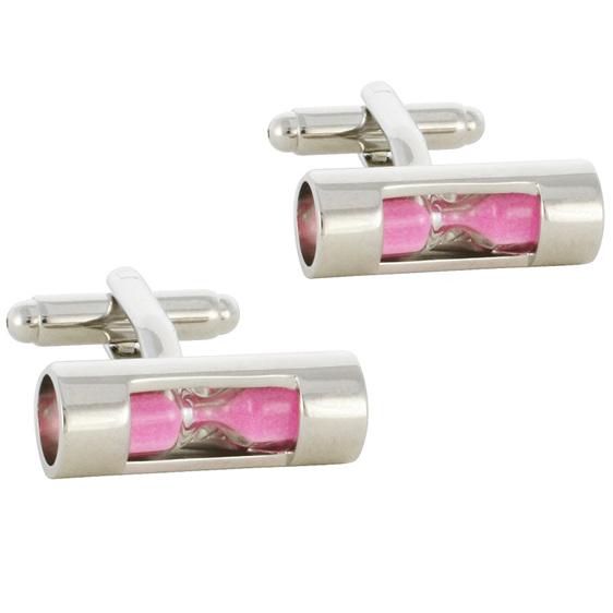 Pink Sandtimer Cufflinks