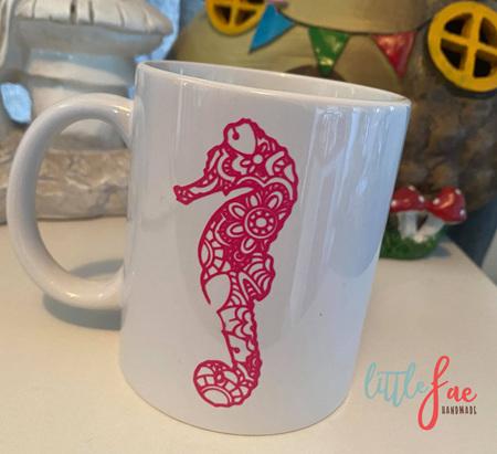 Pink Seahorse Mug