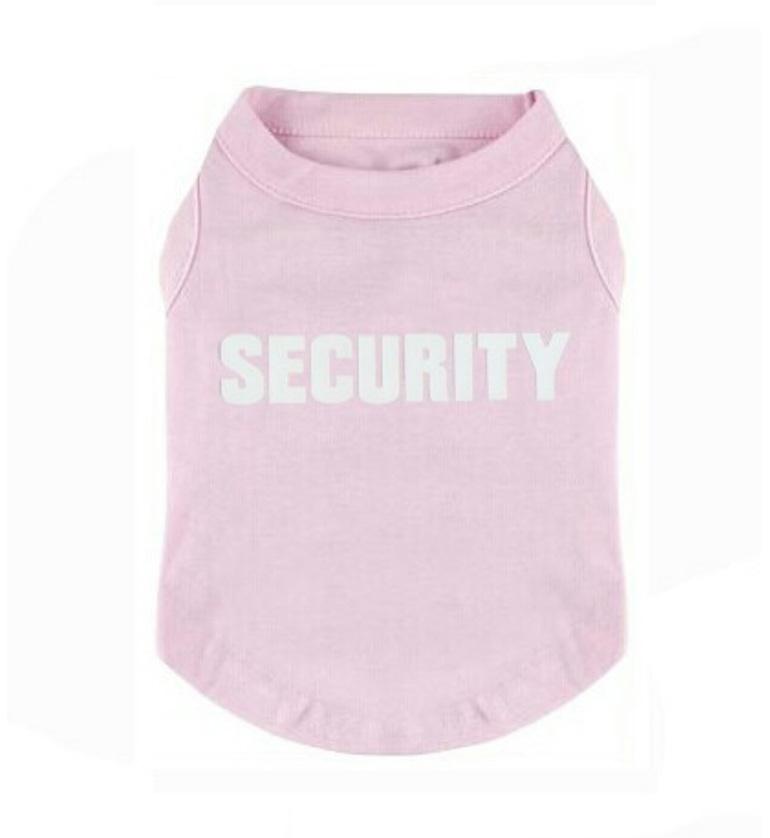 Pink security dog shirt