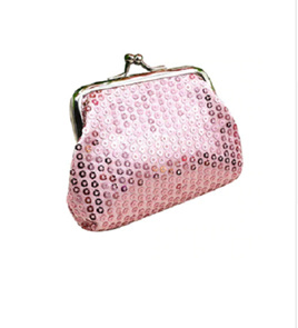 PINK SEQUIN COIN PURSE
