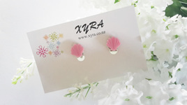 Pink Shell Clip-on Earrings