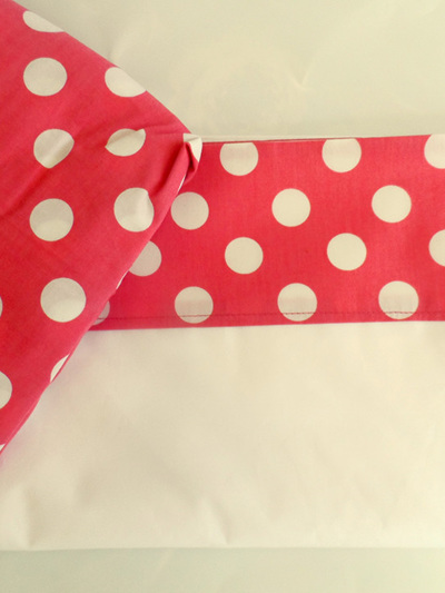 Pink Spotty Cot Sheet Set