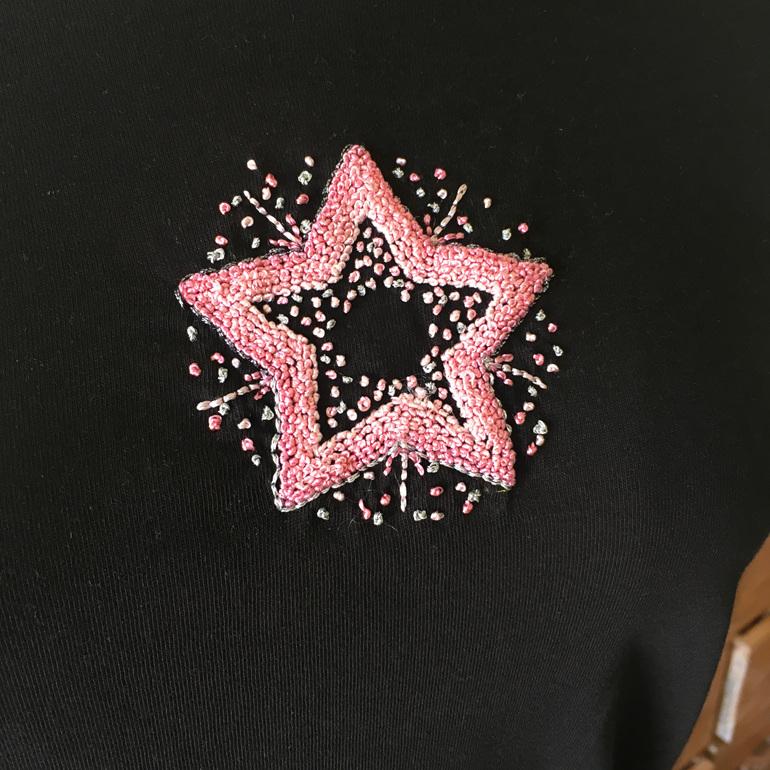 pink star tshirt