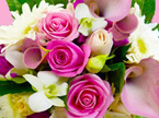 pink toned bouquets