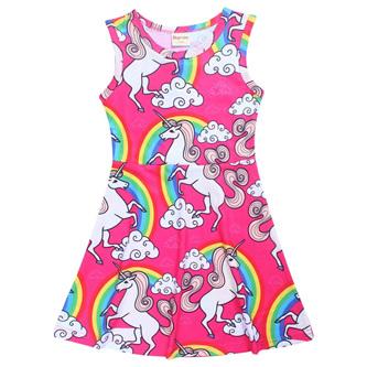 Pink Unicorn Dress Size 7