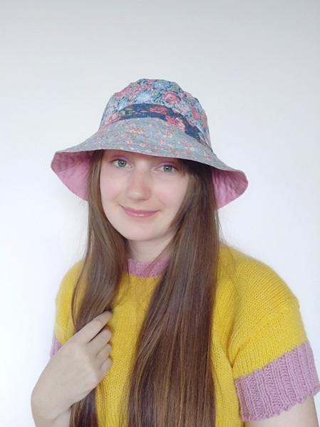 Pink Vintage Floral Bucket Hat
