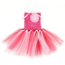 PINK WHITE MULTI TUTU DRESS 0-2yrs
