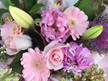 Pink/pastel bouquet designed by Flowerise