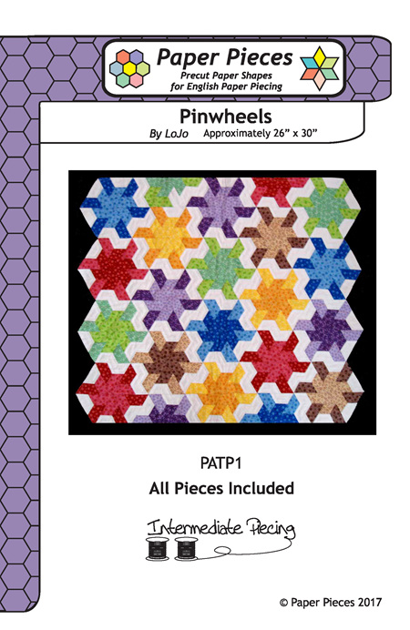 Pinwheels Pattern and Paper Pieces by Paper Pieces