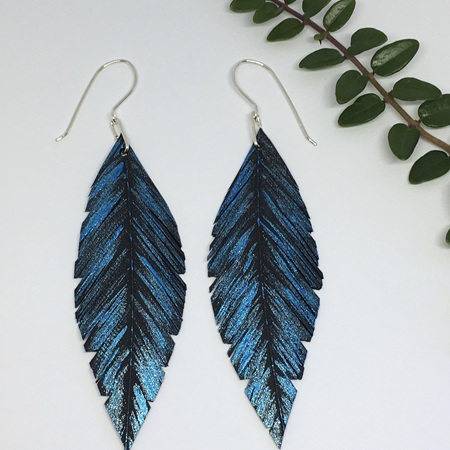 Pique Earrings with Blue
