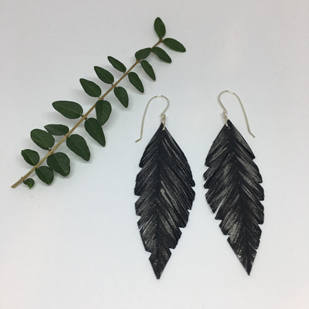 Pique Earrings with Silver