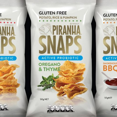 Piranha Snaps Probiotic Chips 50g