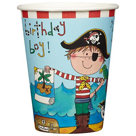 Pirate - Birthday Boy Party Cups